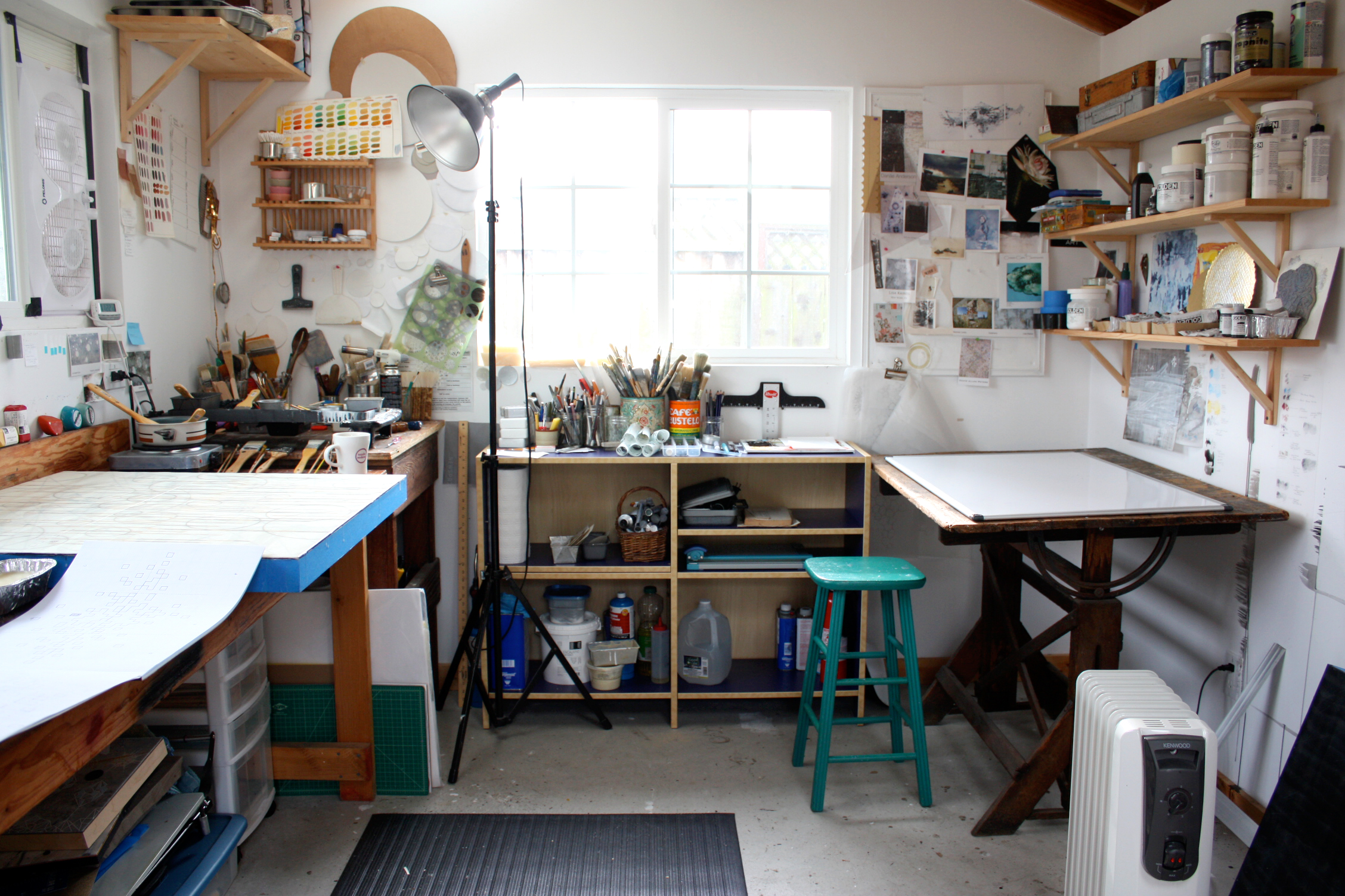 Double life and a studio clean up lisa kairos open studio - Home art studio ...